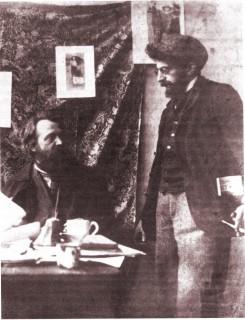 Peter Hille und Erich Mühsam